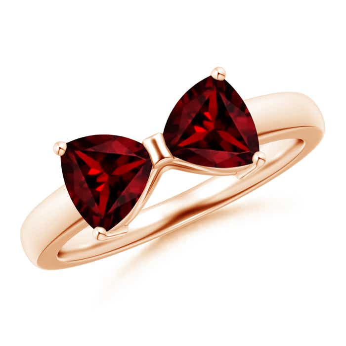 Angara Two Stone Trillion Garnet Bow Tie Ring W3Mvj