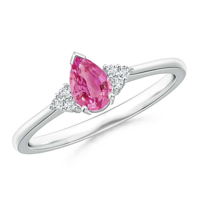 Angara Natural Pink Sapphire Gemstone Engagement Rings in White Gold esOV9gbSTT