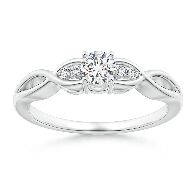 59c7065e55e Infinity Twist Round Diamond Promise Ring with Prong Set