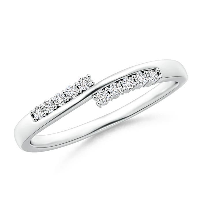 Diamond Studded Bypass Promise Ring with Prong Set - Angara.com
