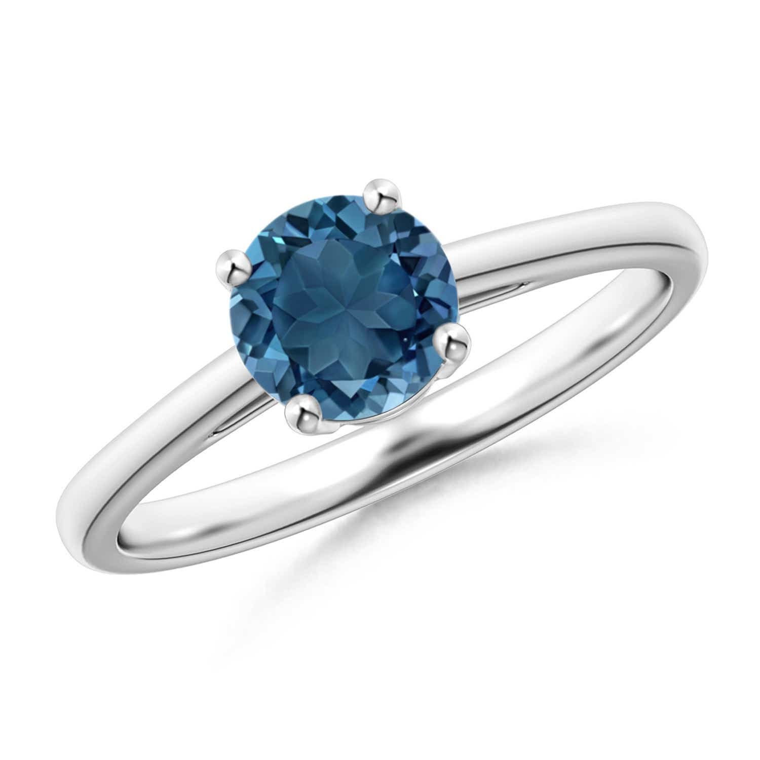 Angara Natural London Blue Topaz Ring in White Gold zvzdCUV63x