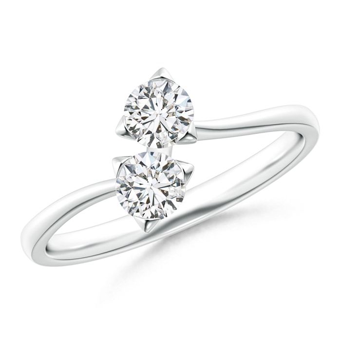 Twist 2 Stone Diamond Promise Ring - Angara.com