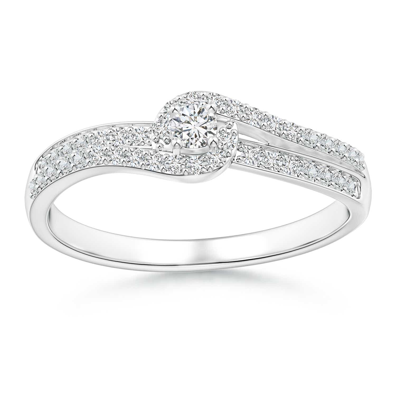 Angara Swirl Over Diamond Double Bypass Halo Bridal Set GYVsJEn3