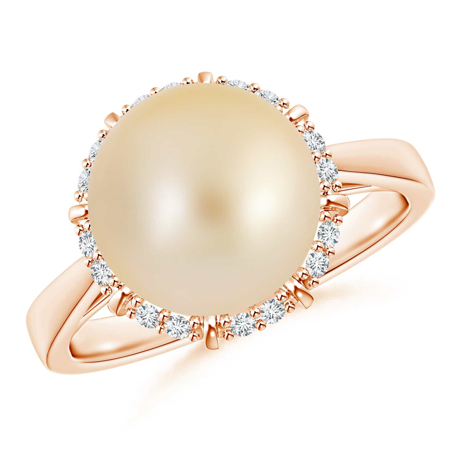 Angara Victorian Style Golden South Sea Cultured Pearl Ring DpWAb1Er