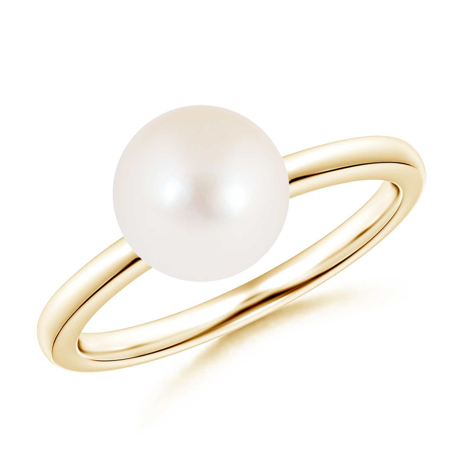 Angara Classic FreshWater Cultured Pearl Solitaire Ring OBSvj