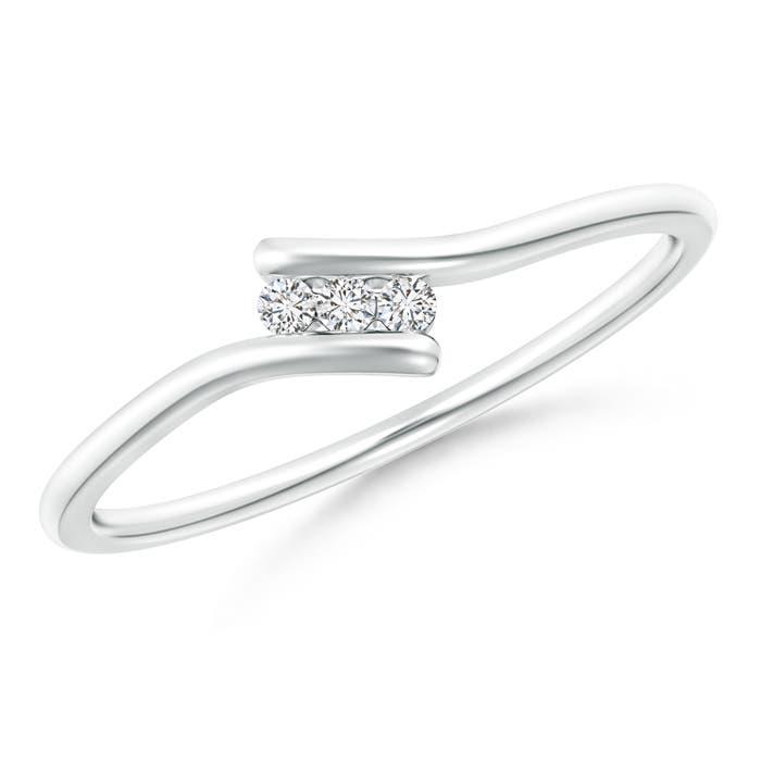 Three Stone Diamond Bypass Promise Ring - Angara.com