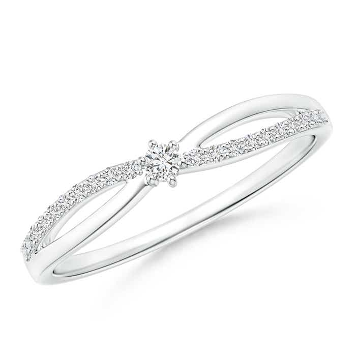 Prong Set Round Diamond Split Shank Promise Ring - Angara.com