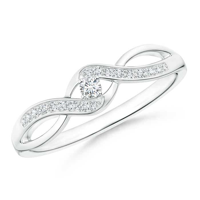 Solitaire-Round-Natural-Diamond-Infinity-Promise-Ring-Silver-14K-Gold-Size-3-13
