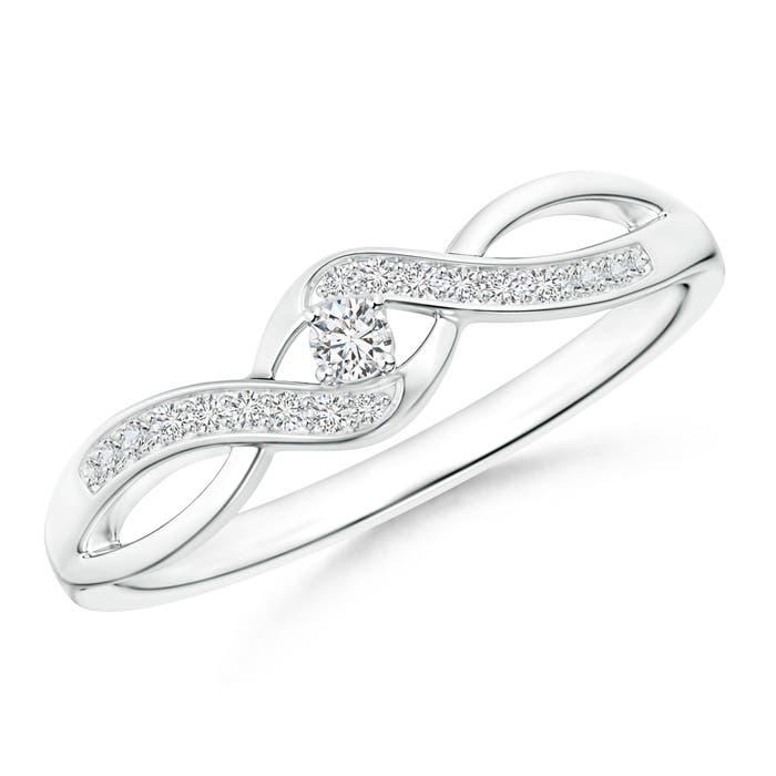 Solitaire Round Diamond Infinity Promise Ring - Angara.com