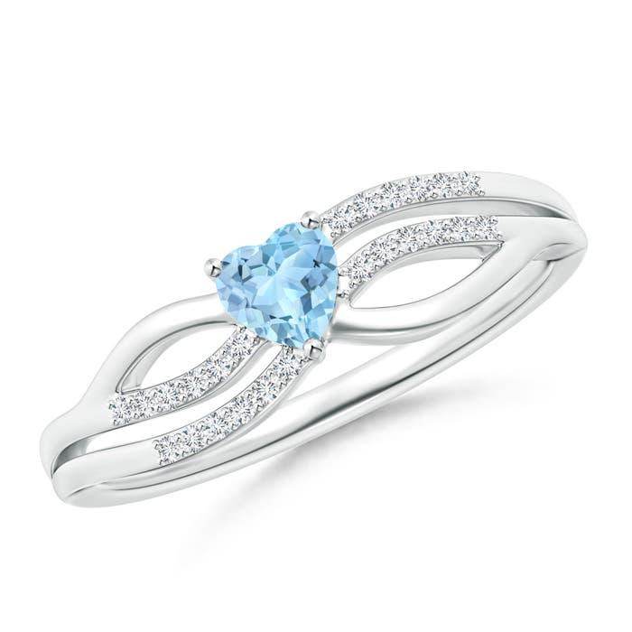 solitaire aquamarine promise ring with
