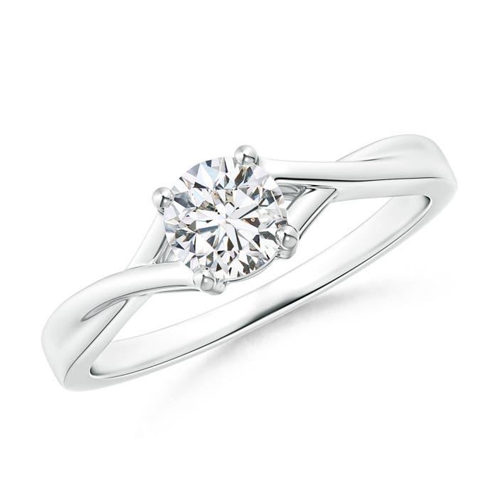 Woven Split Diamond Solitaire Engagement Ring - Angara.com