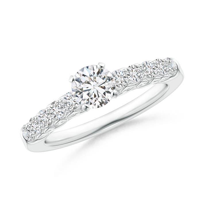 Antique Scroll Diamond Solitaire Engagement Ring - Angara.com