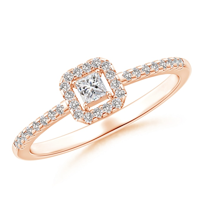 Princess-Cut-Natural-Diamond-Halo-Promise-Ring-14K-Rose-Gold-Platinum