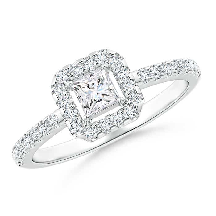 Angara Bezel-Set Princess Diamond Stackable Promise Ring Wq7lrwp5u