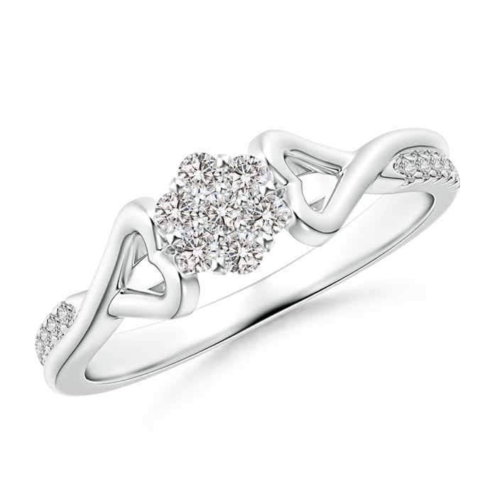 Natural-Diamond-Cluster-Promise-Ring-14K-Rose-Gold-Platinum-Size-3-13