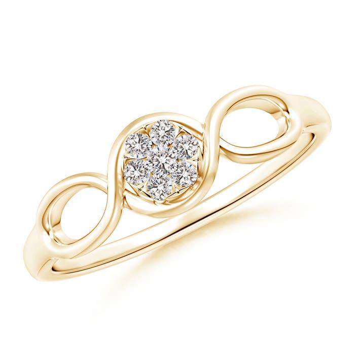 Natural-Diamond-Cluster-Promise-Ring-14K-Gold-Platinum-Size-3-13