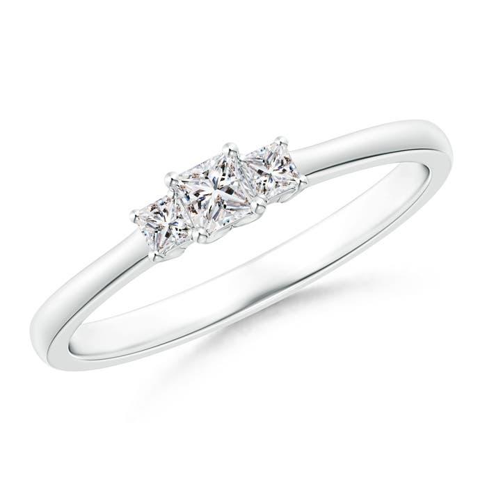 Princess-Cut-Natural-Diamond-Three-Stone-Ring-14K-Gold-Platinum-Size-3-13