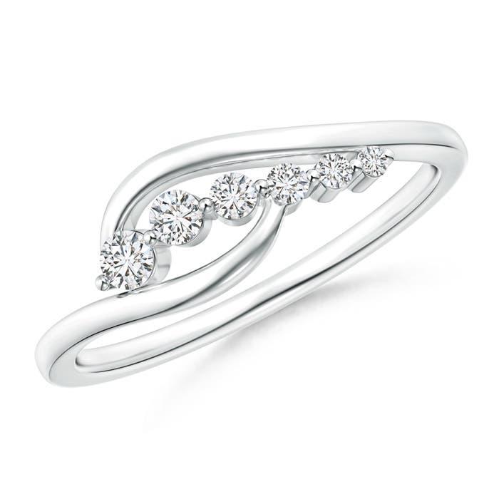 East West Set Journey Diamond Bypass Ring - Angara.com