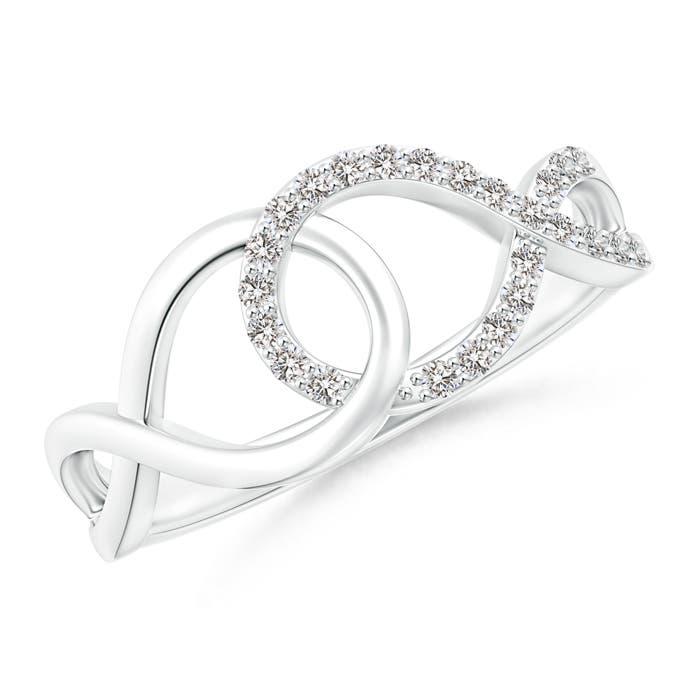 Interlinked-Open-Loop-Natural-Diamond-Infinity-Ring-14K-Gold-Platinum-Size-3-13