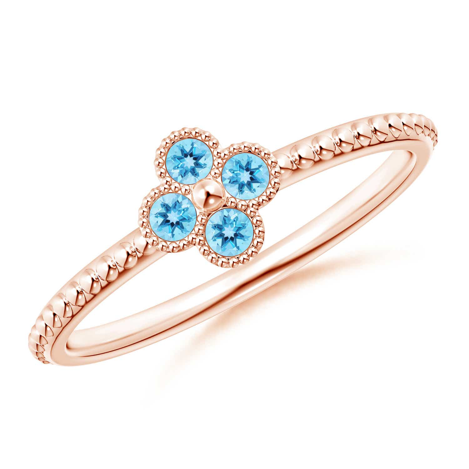 Angara Bezel-Set Round Swiss Blue Topaz Ring with Beaded Shank ecEGWlHW5n
