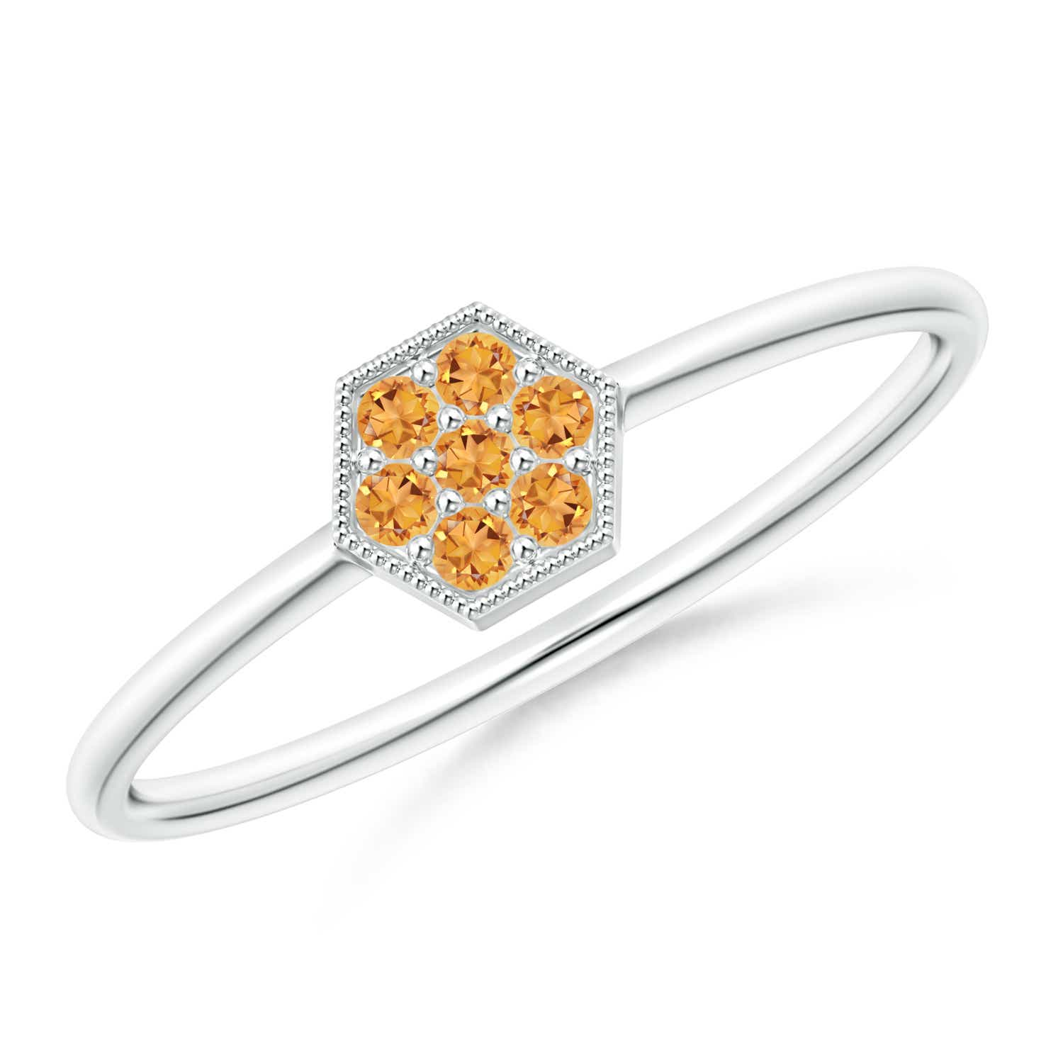 Angara Natural Citrine Ring in White Gold jUHwlb8