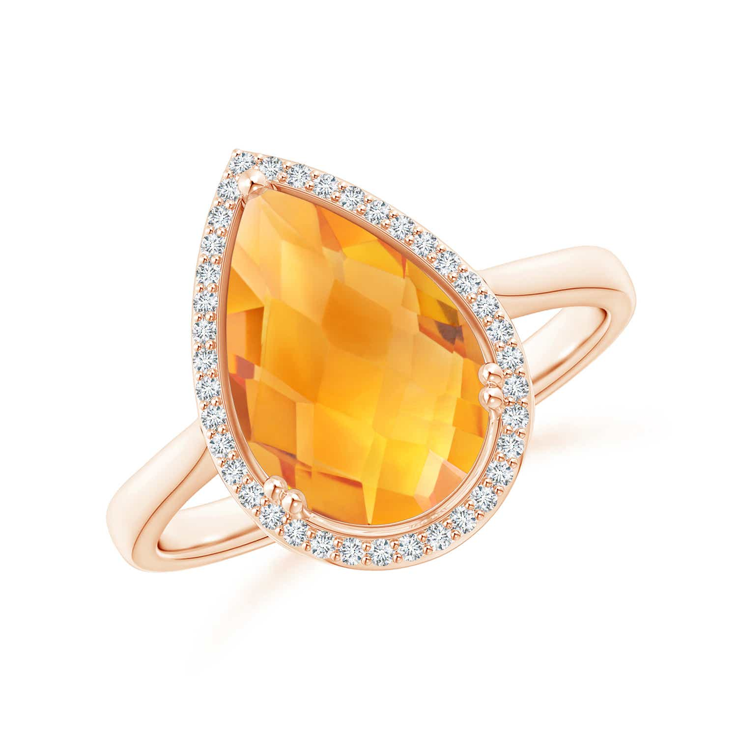 Angara Citrine Cocktail Engagement Ring in Yellow Gold CWQltcsP