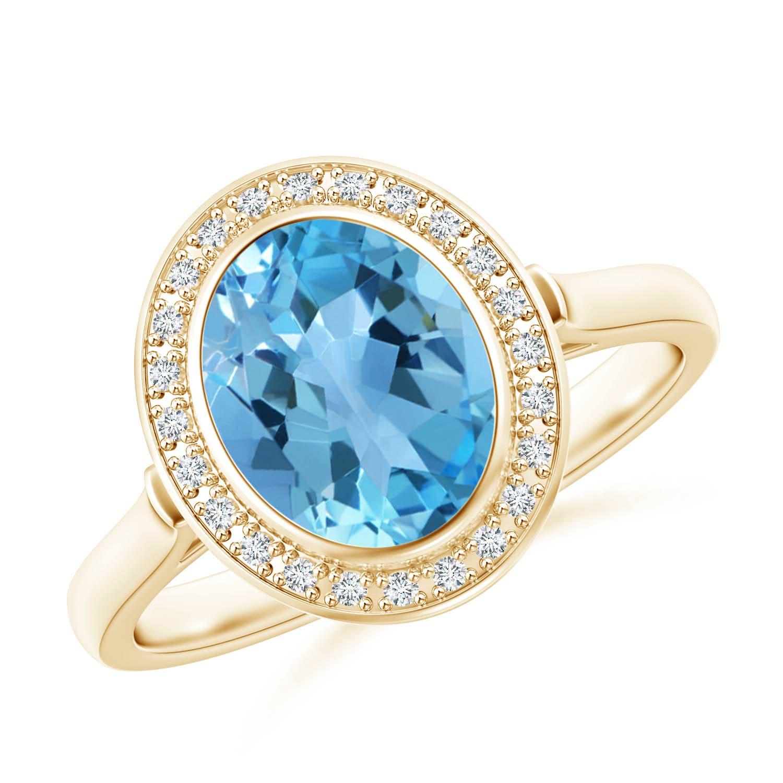 Angara Swiss Blue Topaz Cocktail Ring in White Gold Sxz8Qa4Mxu