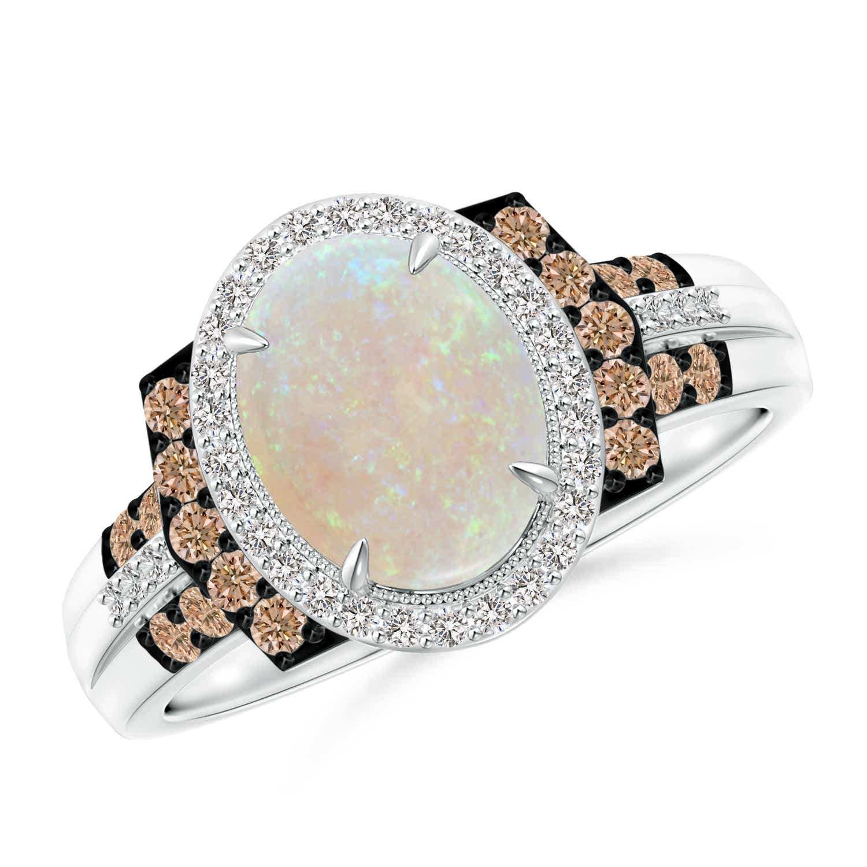 Angara Vintage Peridot Cocktail Ring in Rose Gold XZmZLO79S