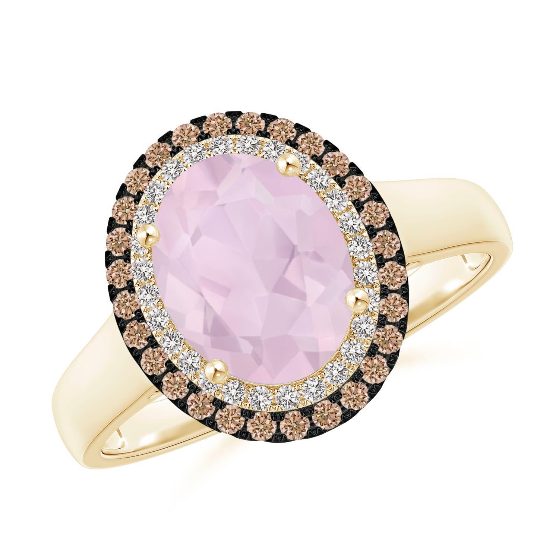 1.7ct Natural Rose Quartz Diamond Double Halo Vintage Style Ring | eBay