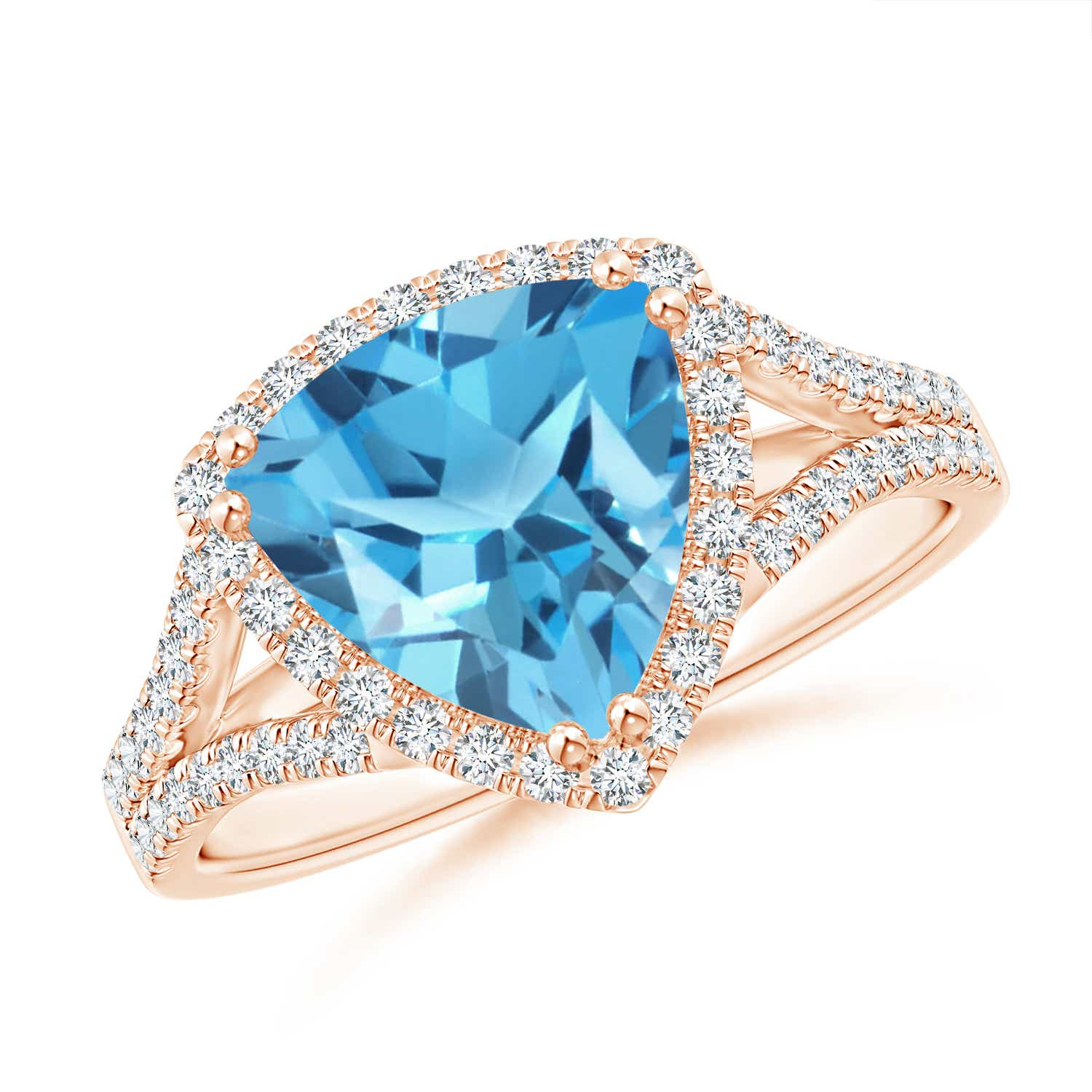 Angara Emerald-Cut Swiss Blue Topaz Cocktail Ring with Diamond Accents ksQeAkdT45