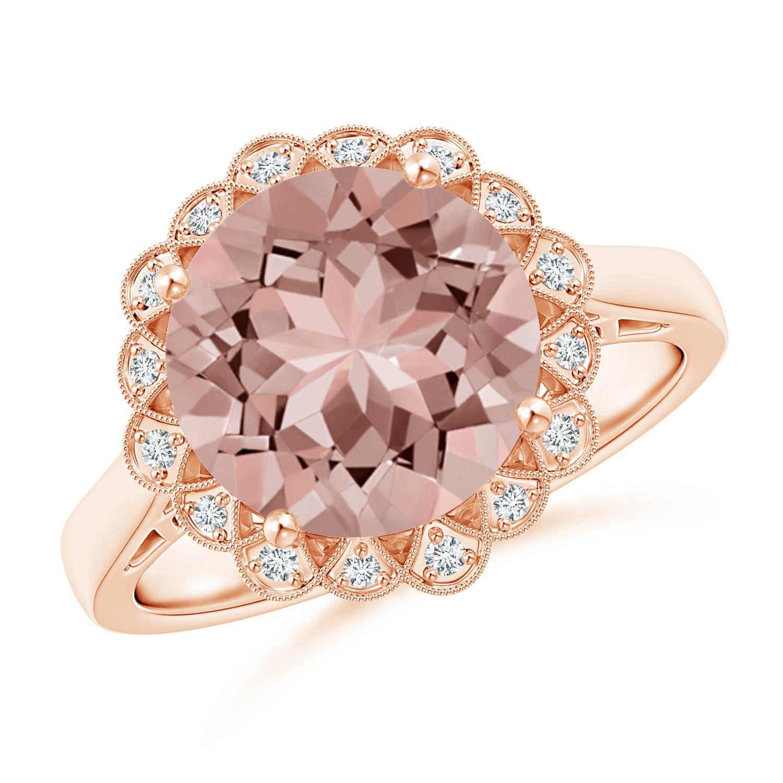 Morganite Engagement Rings in Rose Gold, White Gold & Platinum   Angara