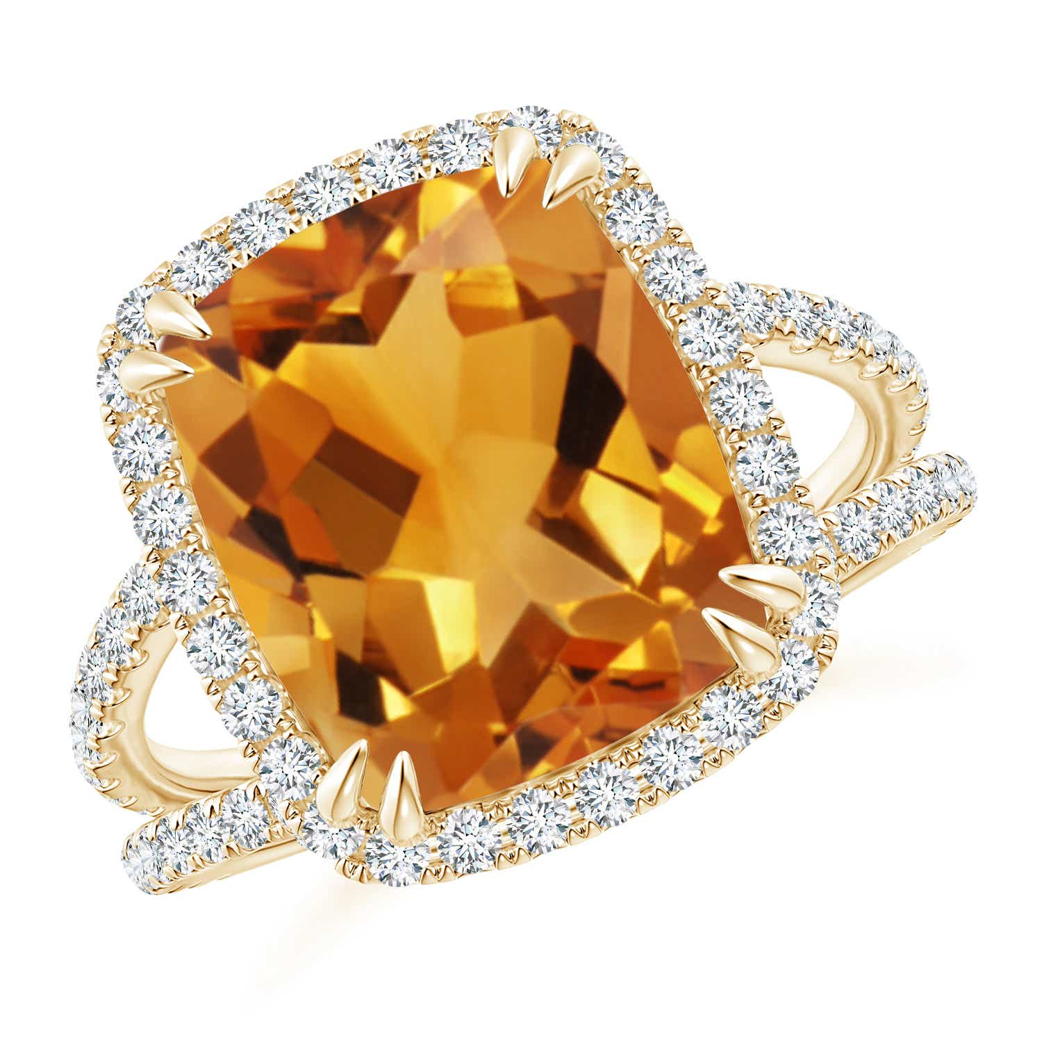 Angara Citrine Cocktail Ring in Rose Gold A8cWJCYYiE