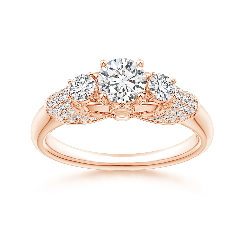 three fleur de lis engagement ring