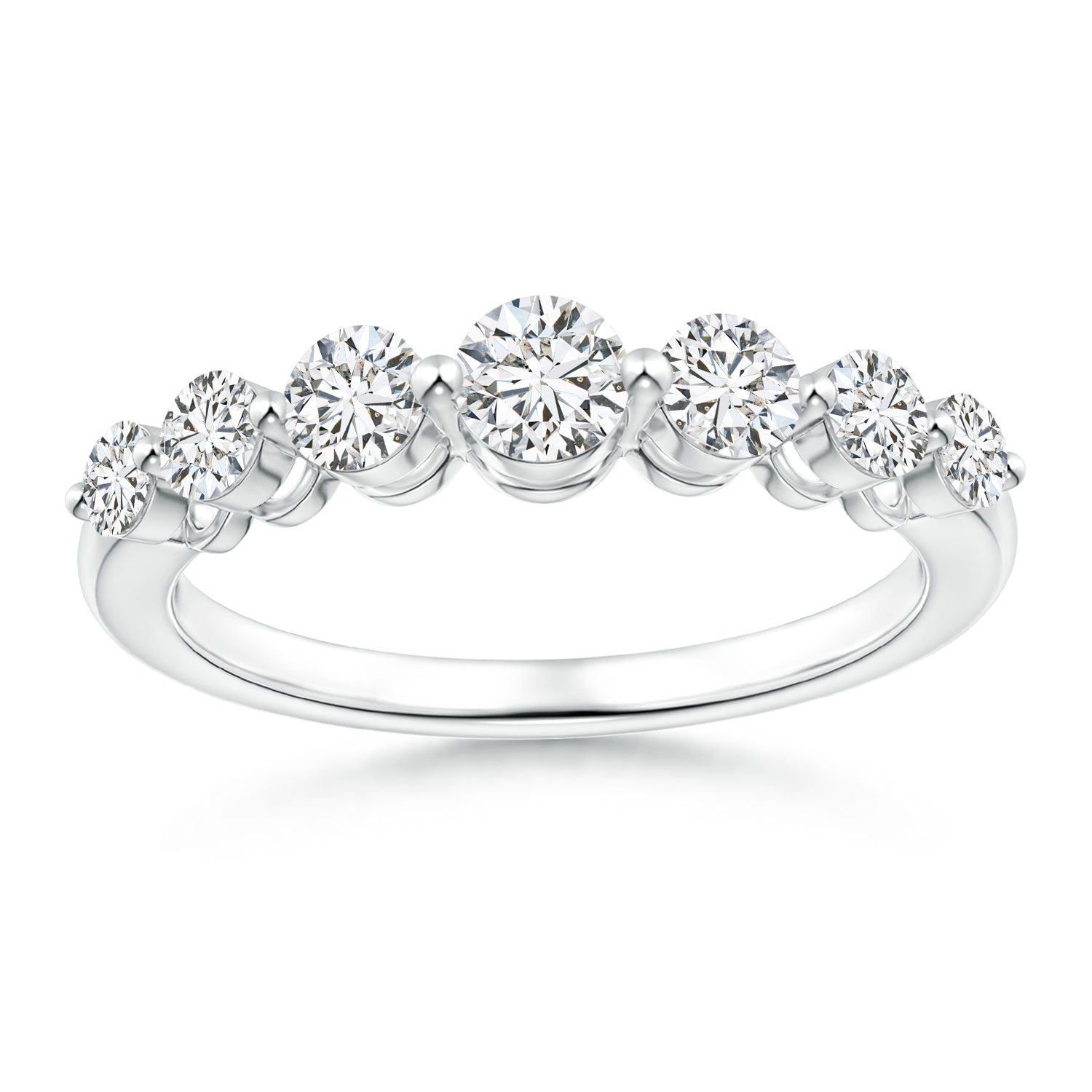Classic Graduated Diamond Half Eternity Band - Angara.com