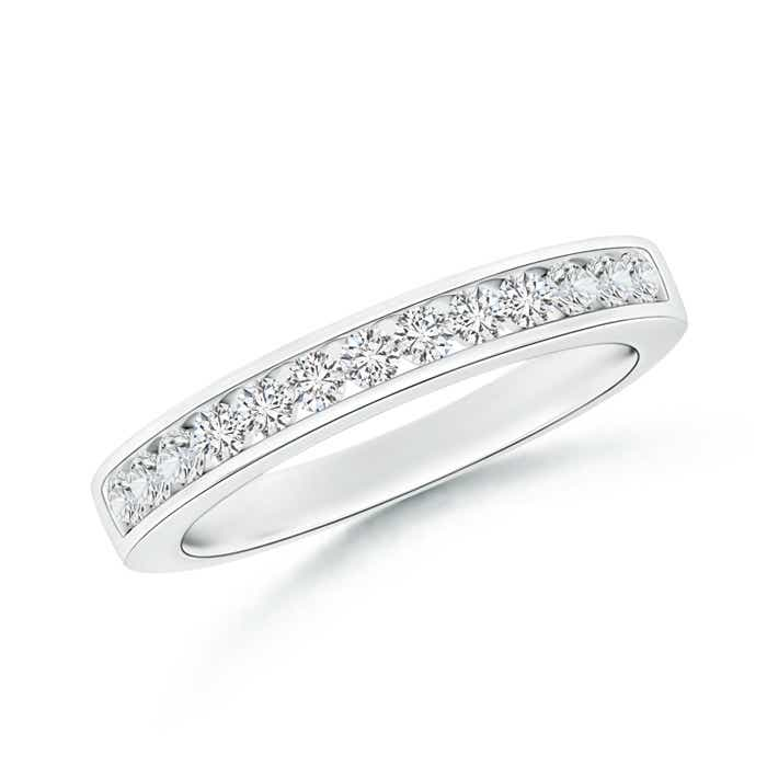 Channel Set Half Eternity Diamond Wedding Band - Angara.com