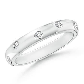 Gypsy Set Diamond High Domed Wedding Band for Women - Angara.com
