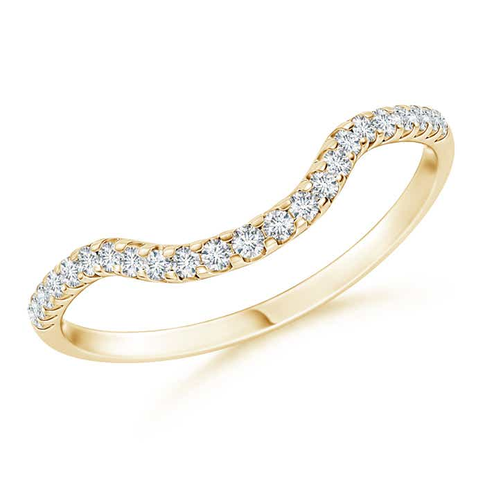 Natural-Diamond-Curved-Wedding-Band-for-Women-14K-Yellow-Gold