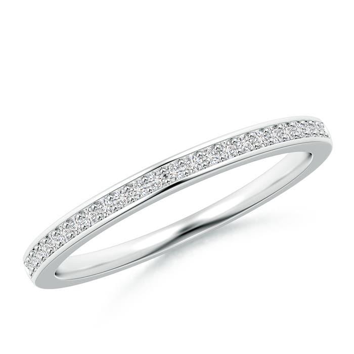Pave Set Half Eternity Women's Diamond Wedding Band - Angara.com