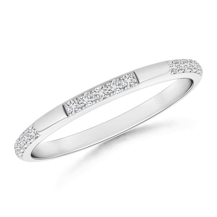 Pave-Set Semi Eternity Diamond Wedding Band for Women - Angara.com