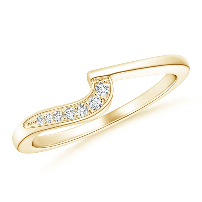 Natural-Diamond-Women-039-s-Wedding-Band-14K-Yellow-Gold-Platinum-Size-3-13