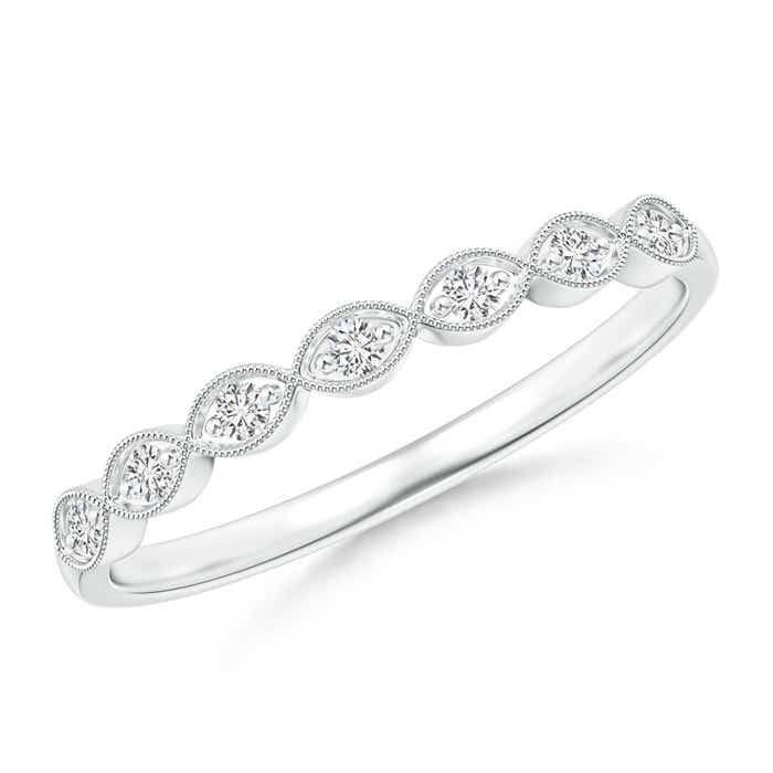 rlb band wedding bomi milgrain ladies bands white gold diamond