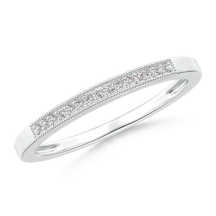 Natural-Diamond-Half-Eternity-Women-039-s-Wedding-Band-14K-Gold-Platinum-Size-3-13