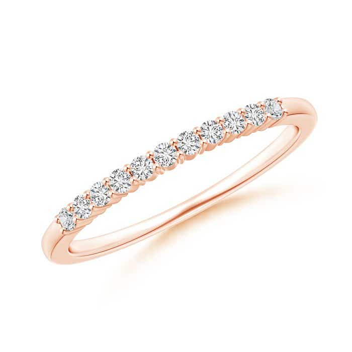 Eleven Stone Shared Prong-Set Diamond Wedding Band - Angara.com