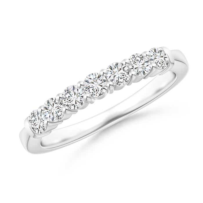 Seven Stone Prong-Set Diamond Wedding Band - Angara.com