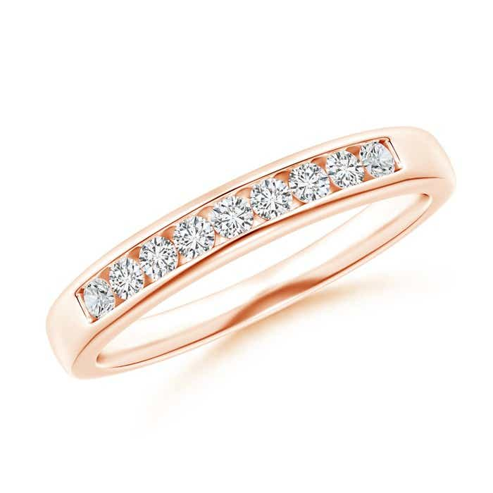 Nine Stone Channel-Set Diamond Wedding Band - Angara.com