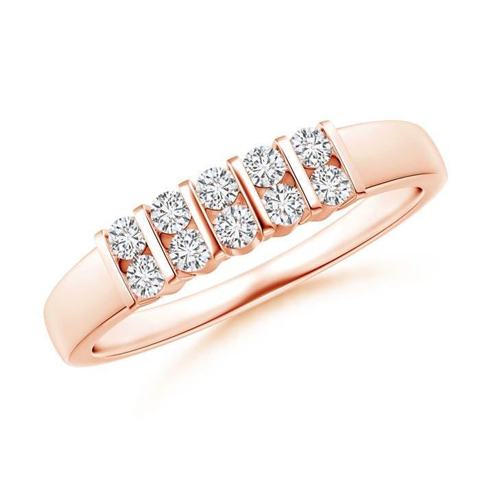 Twin-Row Bar-Set Diamond Ten Stone Wedding Band - Angara.com