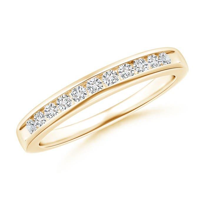 Angara Seven Stone Diamond Wedding Band in Yellow Gold sb0zt2AlZJ
