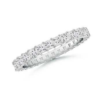 Shared Prong-Set Princess-Cut Diamond Eternity Band - Angara.com