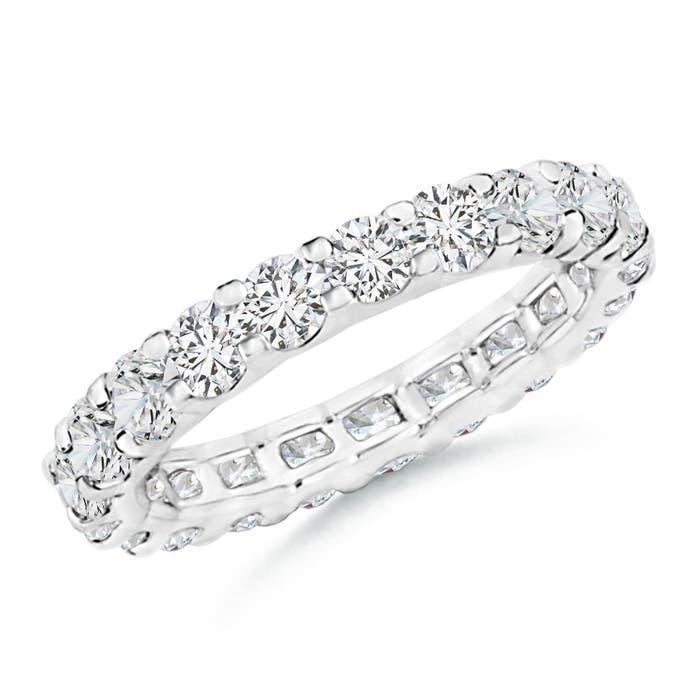 Prong Set Diamond Full Eternity Wedding Band - Angara.com