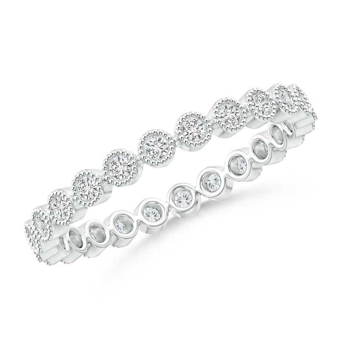 Milgrain Bezel-Set Diamond Eternity Wedding Band - Angara.com
